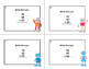 Math Task Cards 2nd Grade Adding 3 Two-digit Numbers Robot Fun