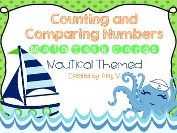 Math Task Cards {Counting and Comparing Numbers}