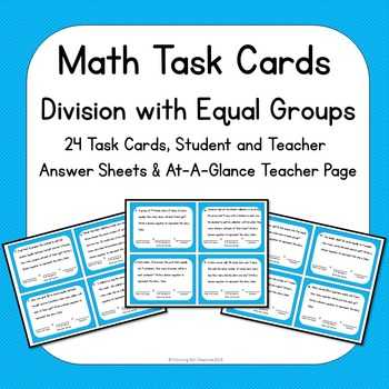 Math Task Cards Division with Equal Shares