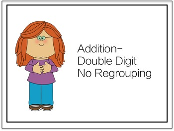 Double Digit Addition Task Cards- No Regrouping {Freebie}