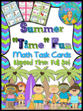 "Math Task Cards Elapsed Time Summer ""Time"""