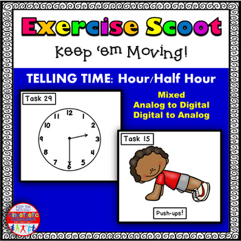 Telling Time to the Hour and Half Hour Set 2: Math Task Ca