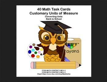 Math Task Cards Grades 4-5 Practice in Converting Measurem
