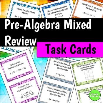 Algebra Review Task Cards