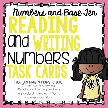 Math Task Cards: Read and Write Numbers Within 1,000