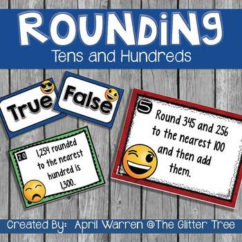 Math Task Cards-Rounding to Tens and Hundreds