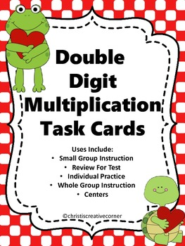 Math Task Cards:  Double Digit Multiplication