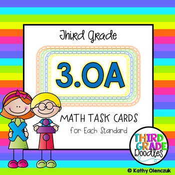 Math Task Cards -- Third Grade Operations & Algebraic Thinking