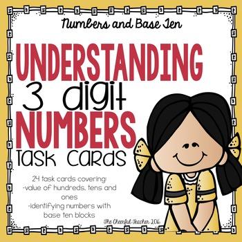 Math Task Cards: Understanding 3 Digit Numbers