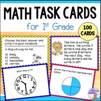 Math Task Cards for Grade 1