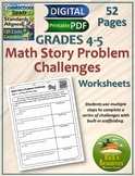 Multi Step Word Problems Math Stories - Worksheets