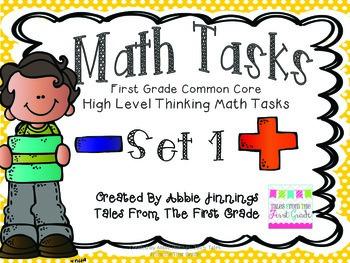Math Tasks- 1st Grade- Set 1