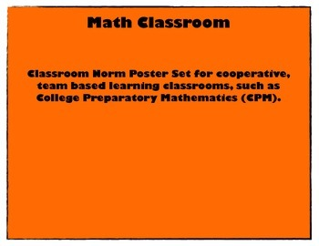 Math Team Classroom Norm Posters