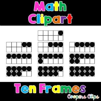 Math: Ten Frames Clipart