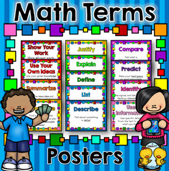 Math Terms Posters
