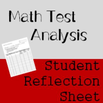 Math Test Analysis Sheet