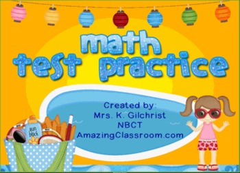 Math Test Practice for Smartboard - SMART Notebook