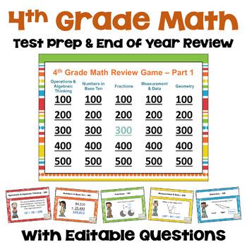 4th Grade Math Test Prep Games