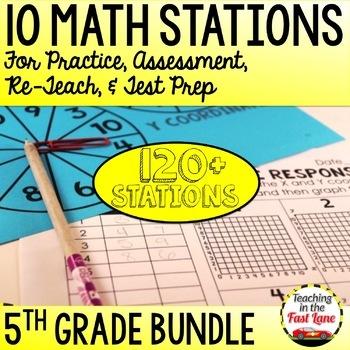 Math Test Prep Stations 5th Grade