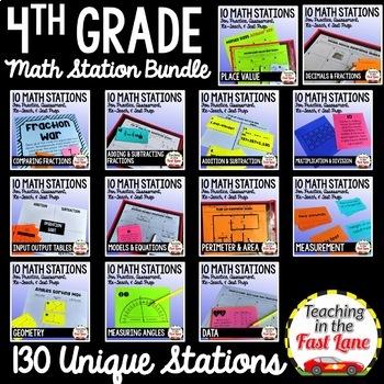 Math Test Prep Stations 4th Grade