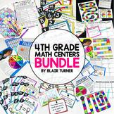 Math Test Prep Centers: ALL 4th Grade Standards {GROWING BUNDLE!}