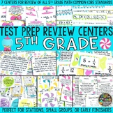 Math Test Prep Review Centers or Stations {Review of 5th G