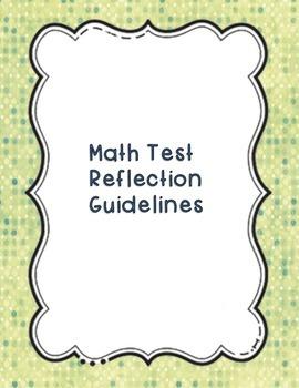 Math Test Reflection