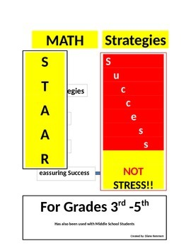 Math Test-Taking Strategies for STAAR! Success NOT STRESS!