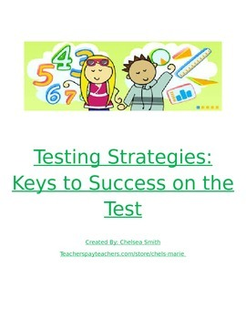 Math Testing Strategy Posters for Bulletin Board