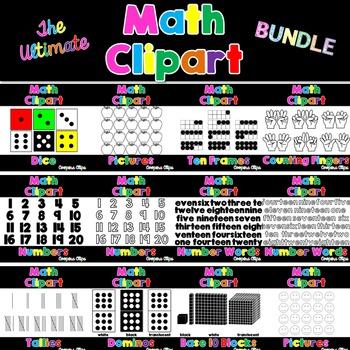 Math: The Ultimate Math Clipart Bundle (355 images)