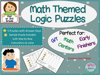 Math Themed Logic Puzzles for GT/ and Early Finishers - 2n