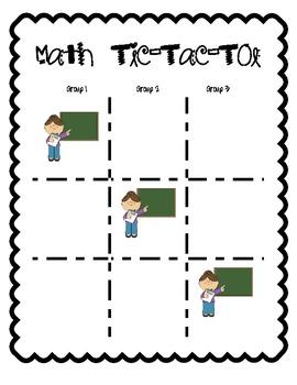 Math Tic Tac Toe Board