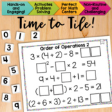 Math Tiles: Order of Operations 2 {With Exponents} | Math Centers