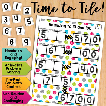 Math Tiles: Rounding to 10 and 100 | Math Centers