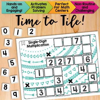Math Tiles: Single-Digit Multiplication | Math Centers