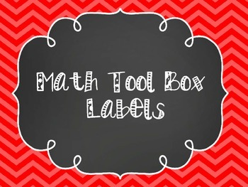 Math Tool Box Labels