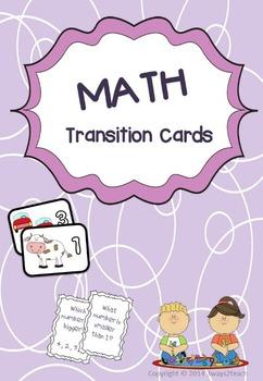Math Transition Cards