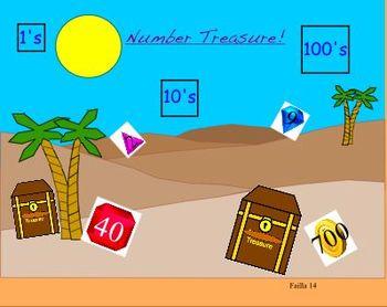 "Math Treasure Numbers 1's,10's and 100""s"
