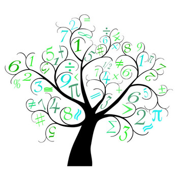 Math Tree Clip Art - For Personal Use Only