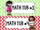 Math Tub labels