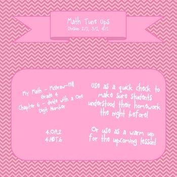 Math Tune Ups - McGraw Hill Ch. 6 - Division with a One-Di