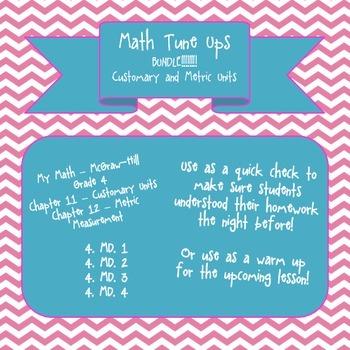 Math Tune Ups - McGraw Hill - Measurement BUNDLE! Metric a