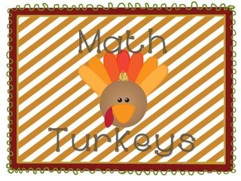 Math Turkey-Numbers 0-5