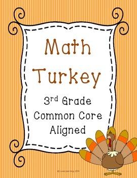 Math Turkey - Review 3rd Grade Common Core Math Concepts