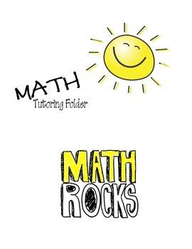 Math Tutoring Folder