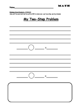 Math Two Step Word Problems