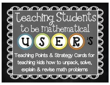 "Math ""U.S.E.R"" Kit: Teaching Points for Independent Proble"