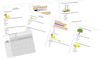 Math Unit 3 Measurement and Data Pretest and Post Test