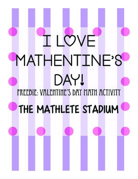 Math Valentine's Day FREEBIE: adding fractions, decimals,