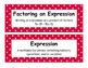 Math Voabulary Cards-Red